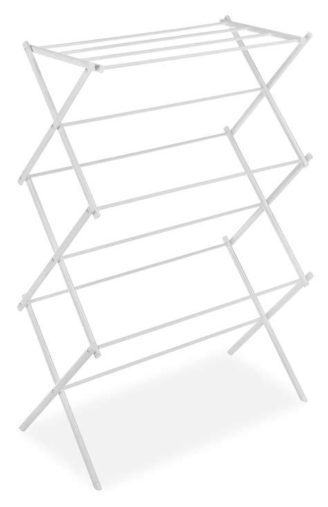 whitmor folding drying rack white view larger