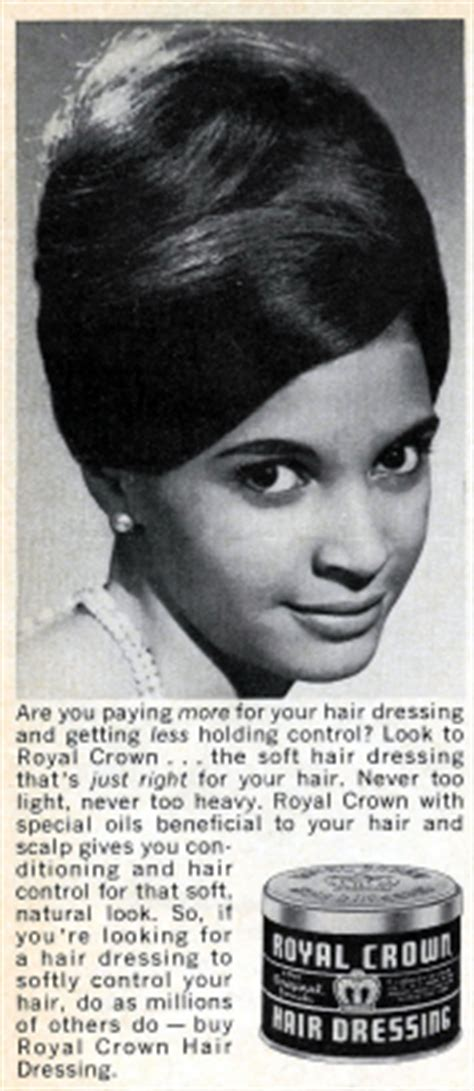 african american hairstyles in the 1960s royal crown hair dressing ad 1966 thirstyroots com