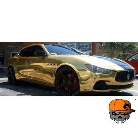 maserati gold chrome maserati wrapped in avery sw gold chrome vinyl