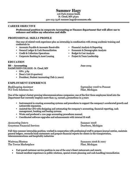 Resume Exles For Resume Sle For Employment Obfuscata