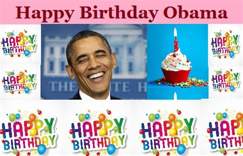Obama Birthday Card by Obama Birthday President Barack Happy B Day Greeting