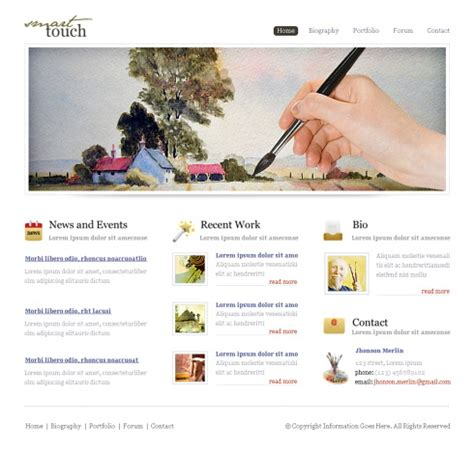 free website templates for artists painters xhtml template 6236 photography