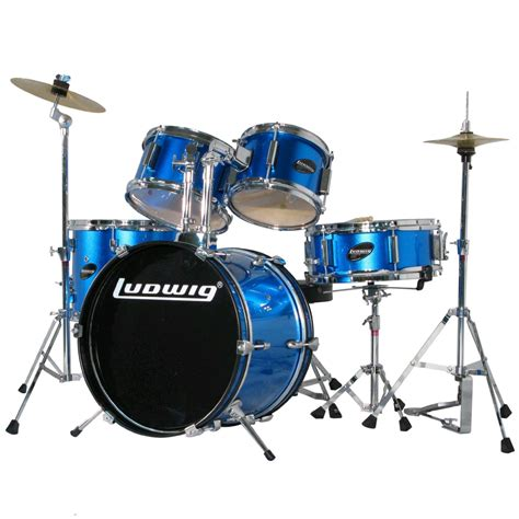 Drum Set ludwig 5 junior drum set with hardware 16 quot bass 8 10 13 quot toms ljr106