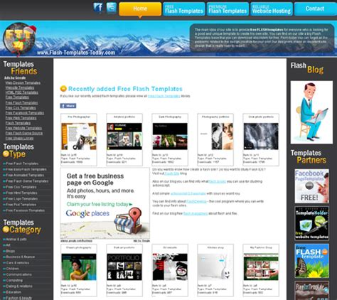 20 Places To Download Free Website Templates And Free Flash Templates Designbeep Free Flash Site Templates