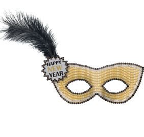 black gold silver new year s eve party hats masks