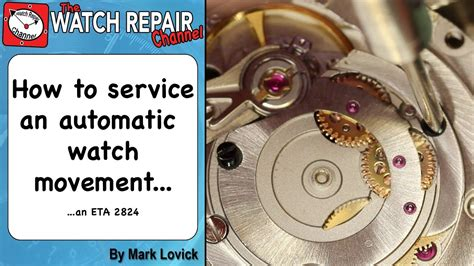 u boat watch replacement parts how to service an automatic watch eta 2824 watch repair