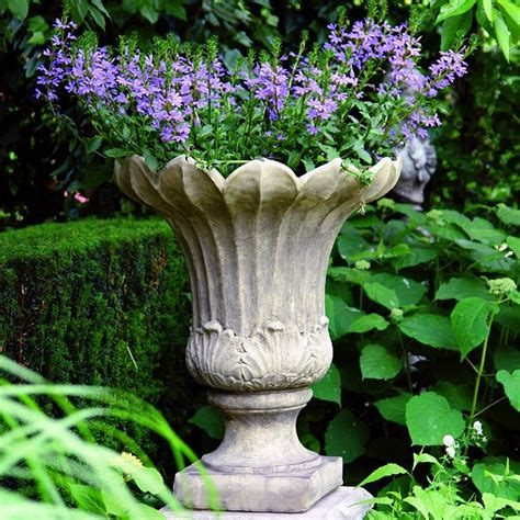 fluted vase garden urns pots planters