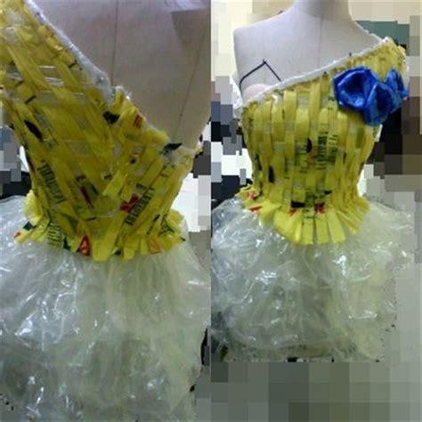 vestido con material reciclado un vestido con materiales reciclados vestidos reciclados