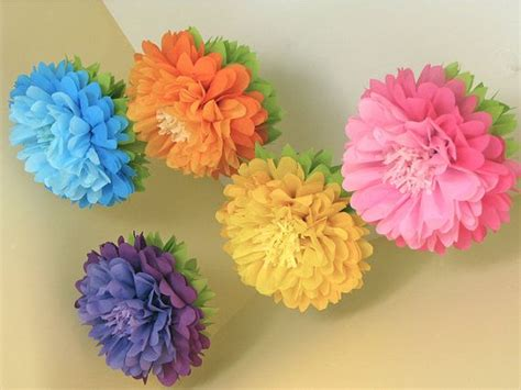 How To Make Hanging Paper Flowers - in bloom 5 hanging paper flowers