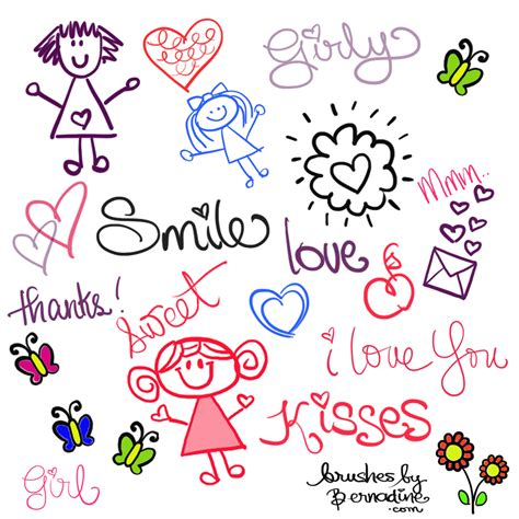 girly doodle wallpaper cute girly doodle brushes photoshop brushes