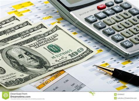 calculator dollar money calculator and pen royalty free stock image