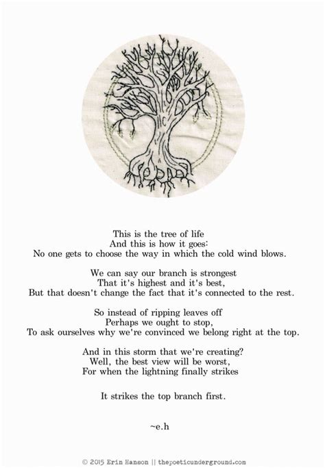 tree quotes the tree of e h w o r d s poem