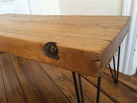 Handmade Butcher Block - handmade reclaimed butcher block rustic coffee table at