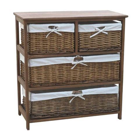 4 wide cabinet 4 wicker baskets wide wooden storage cabinet brown buy