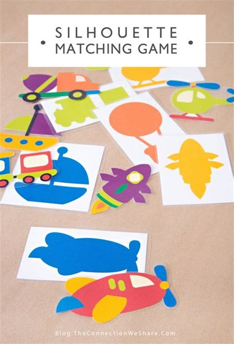 printable toddler busy bags silhouette matching game and busy bag ideas matching
