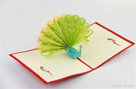 peacock pop up card template pop up greeting card templates peacock pop up card