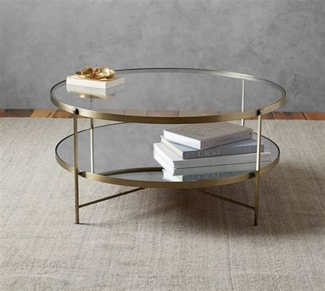 leona coffee table pottery barn