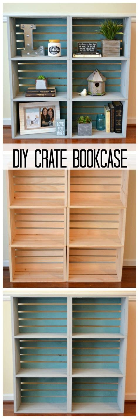 diy crate bookcase the one stop diy shop pinterest