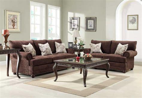 chenille sofa set homelegance elena sofa set chocolate chenille u9729 3 at