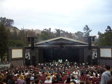 greek theater section c center and almost front section sec c row a seats 101