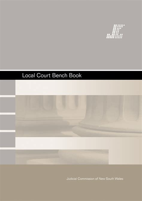 local court bench book judicial commission of new south