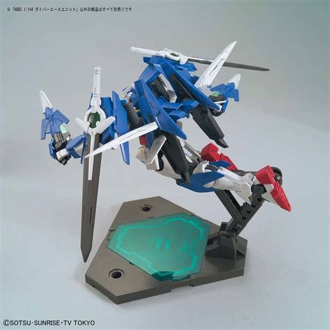 Hbj4051 Gunpla Ace With New Hg Gundam Weapon Parts Bandai Gundam Build Divers Build Custom 1 144 Diver Ace