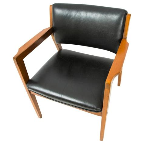 danish leather armchair danish modern dining armchair in black leather for sale at