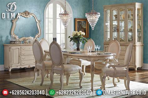 Meja Makan Jepara 6 Kursi meja makan mewah jepara 6 kursi terbaru finishing cat duco ivory df 0447 dima furniture jepara