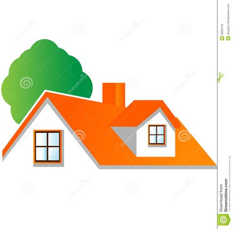 house logo design vector house with tree logo vector royalty free stock photo image 28002755