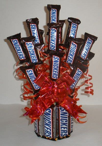 How To Make A Bar Bouquet In A Vase by Snickers Bouquet Family Crafts Family