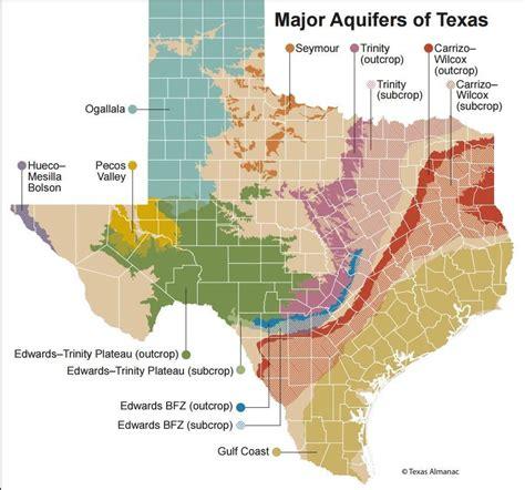 interactive texas map major texas aquifers interactive well depth map