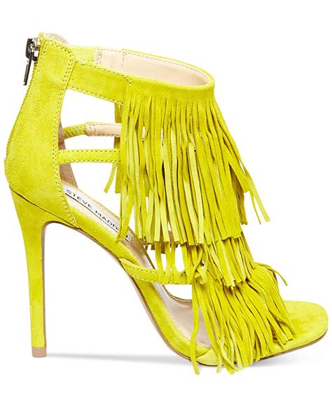 lyst steve madden s fringly in yellow
