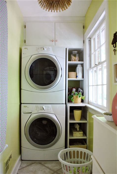 Remodelaholic 25 Ideas For Small Laundry Spaces Laundry For Small Spaces