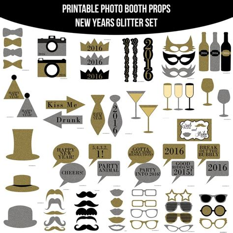 printable photo booth props nye 61 best photo booth props images on pinterest birthday