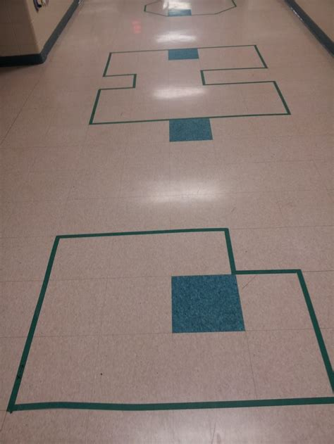 area and perimeter in the hallway if you square