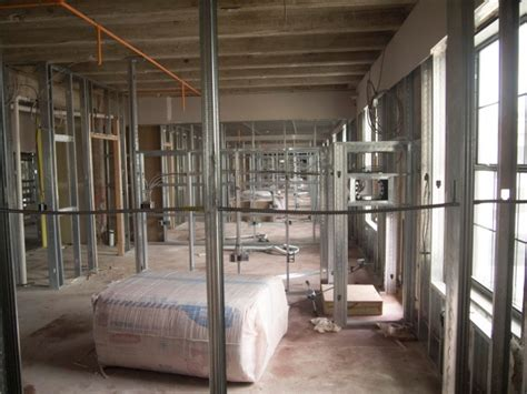 framing a room get heavy with metal framing construction