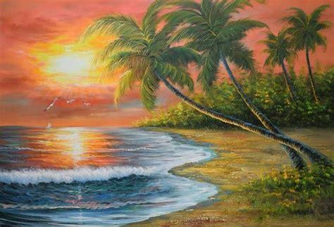gambar pemandangan alam  indah lukisan foto