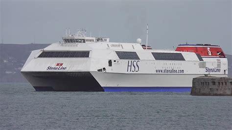 largest catamaran ferry world s biggest fast ferry stena explorer hss youtube