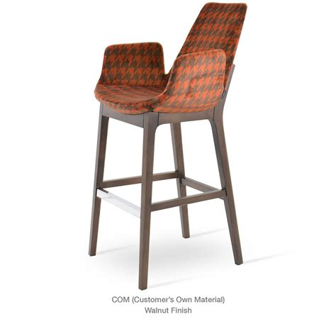 bar stools somerville ma eiffel wood arm bar counter stool by soho concept city