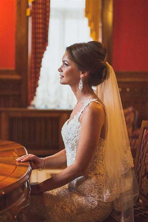 wedding hairstyles  veil veil