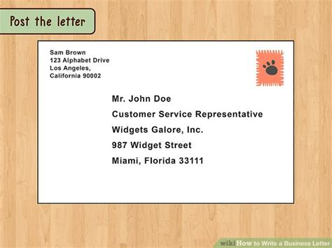 how to send a letter the best way to write and format a business letter wikihow