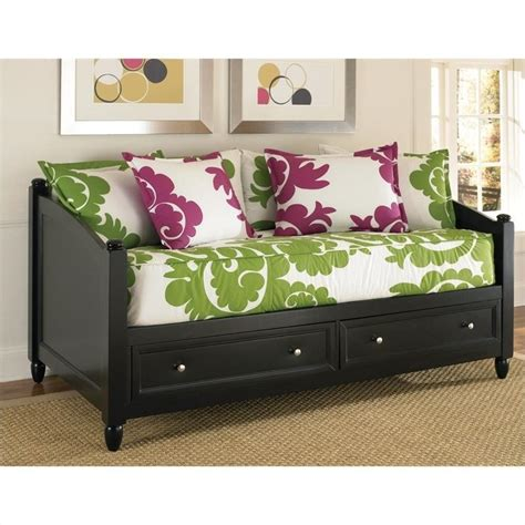day bed storage wood daybed in black 5531 85