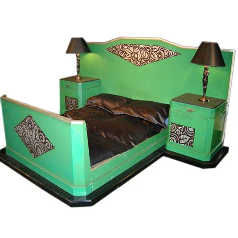 art deco bed french art deco bed with night stands at 1stdibs