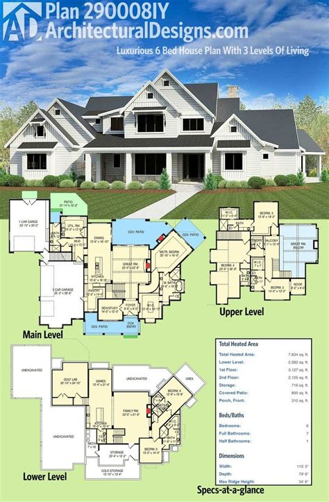 6 bed house plans best 25 6 bedroom house plans ideas on pinterest
