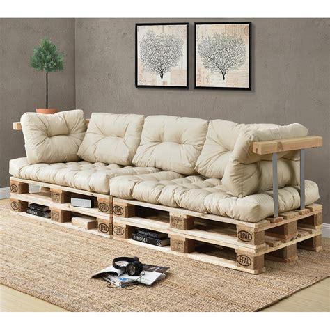 en casa 1x back cushions pallet in outdoor sofa padding