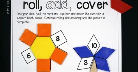 pattern block cover up roll and cover pattern block mats math activities