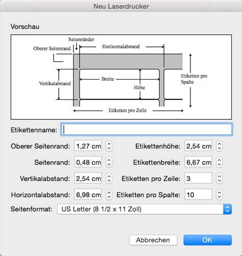 Etiketten Drucken 8 Pro Seite by Erstellen Und Drucken Von Etiketten In Word 2016 F 252 R Mac