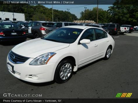 nissan altima white 2012 winter white 2012 nissan altima 2 5 s charcoal