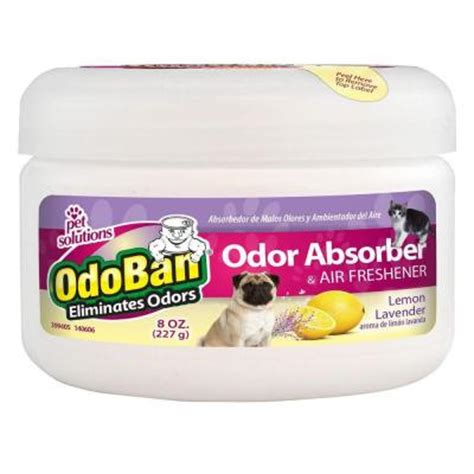 odoban 8 oz lemon lavender solid pet odor absorber and