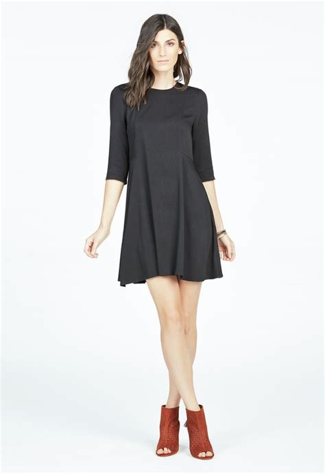 trapeze swing dress trapeze swing dress in black get great deals at justfab
